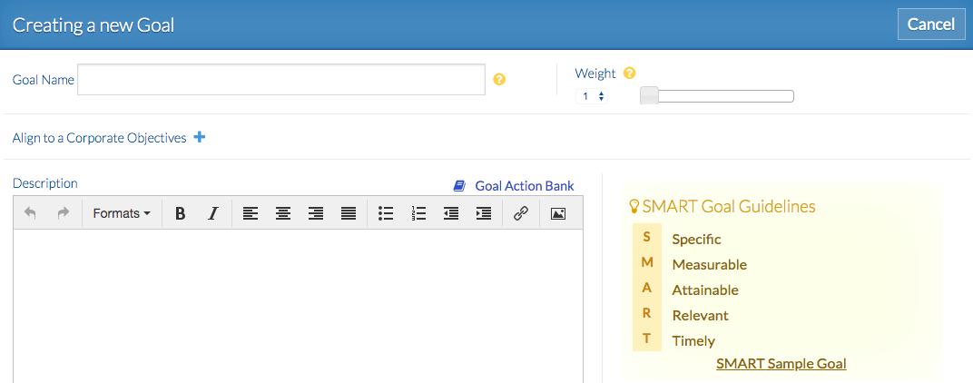 Creating a SMART Goal