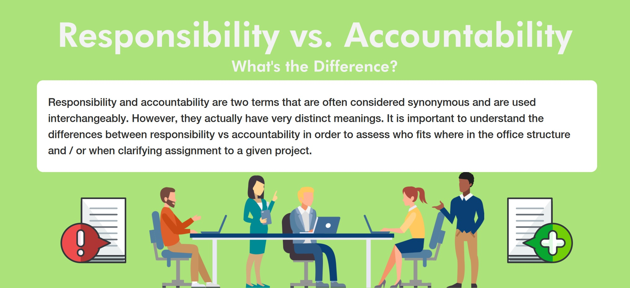 Responsibility vs. Accountability - Preview